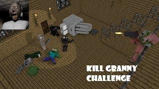 Download Monster School : KILL GRANNY CHALLENGE - Minecraft Animation Video