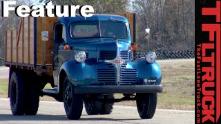 Download We drive the GrandDaddy of Heavy Duty Trucks -1947 Dodge Truck on the Road Video
