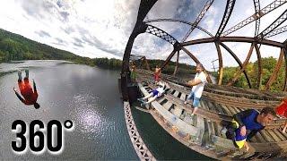 Download 4K 360° BRIDGE JUMPING Video