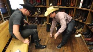 Download Tenor Stephen Costello fitted for cowboy boots and hat Video