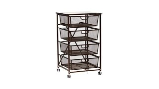 Download Origami 4Drawer Kitchen Cart with Wood Shelf Video