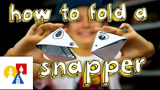Download How To Fold An Origami Snapper Puppet Video