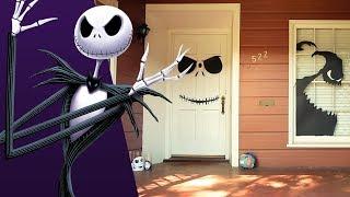 Download Jack Skellington Halloween Door Decor | Disney Family Video