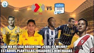 Download LIGA MX VS LIGA ARGENTINA /¿CUAL ES MEJOR? / COMPARACIÓN / JUGADORES, ESTADIOS, HINCHADAS / 2017 Video