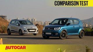 Download Hyundai Grand i10 vs Maruti Ignis | Comparison Test | Autocar India Video