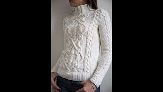 Download Модные Белые Женские Пуловеры Спицами - 2019 / Trendy White Women's Pullovers Knitting Video