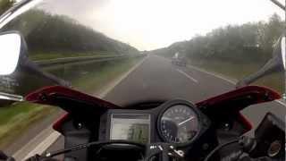 Download TOP Speed Honda CBR 600 on German Autobahn Video