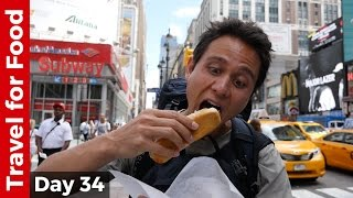 Download Hot Dog at Penn Station and Flying from NYC to Hong Kong on United Airlines (16 Hour Flight!) Video