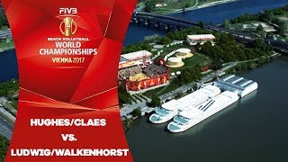 Download Hughes/Claes (USA) v Ludwig/Walkenhorst (GER) - FIVB Beach Volleyball World Champs Video