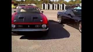 Download 1971 Boss 351 Mustang crushes Corvette Z06 Video
