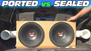 Download Ported vs Sealed Subwoofer Box w/ Adjustable Port Tuning & CLEAN Car Audio Install + LOUD BASS!! Video