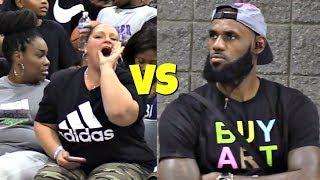Download LeBron James Jr SHUTS UP Heckler! USBA Nationals 2018 Video
