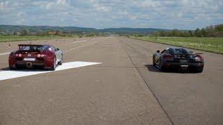 Download RACE Koenigsegg Agera S vs Bugatti Veyron 16.4 x 5 races action version multicamera Video