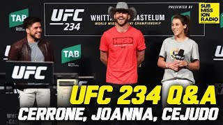 Download UFC 234 Q&A: Donald Cerrone, Joanna Jedrzejczyk, Henry Cejudo Video