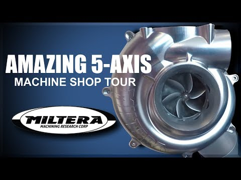 AMAZING 5 Axis Machine Shop: Miltera!