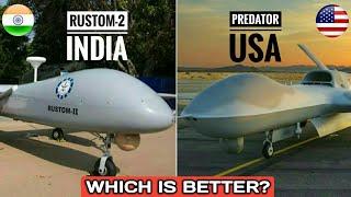 Download India's Rustom-2 Vs US Predator Drone - DRDO Rustom-2 Vs MQ-1 Predator | Which Is Better? (Hindi) Video