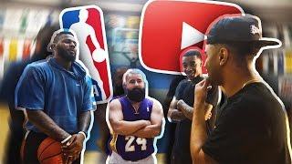 Download YOUTUBERS VS NBA PLAYERS!! INTENSE 2V2 BATTLE!! LOSER HAS TO A WEAR ROMPER & DRESS IN DRAG!!! Video
