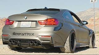 Download [4K] Wide Body BMW F82 M4 | ARMYTRIX Exhaust | PSM Dynamic | SEMA 2017 Customer Spotlight Video