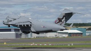 Download Saxon Warrior Movements at Prestwick Airport | C17s & C130s & More Video