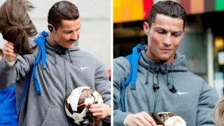 Download Ronaldo hóa trang, chơi bóng và xin ăn trên đường phố Madrid FULL HD Video