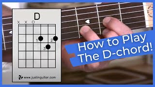 Download Super Easy First Guitar Lesson - Guitar Lessons For Beginners - Stage 1 - The D Chord Video