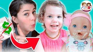 Download 😬Babysitter Baby Emma Has NO Money⁉️ 💵 🚫 Babysitting Born Born Twins⁉️ 😮 Video