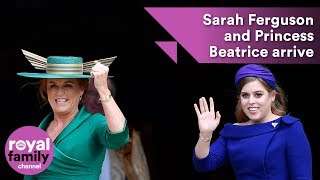 Download Princess Beatrice and Sarah Ferguson arrive for royal wedding Video