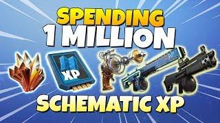 Download Spending 1 MILLION Schematic XP! LVL 130 ZAP ZAPP | Fortnite Save The World Video