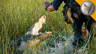 Download CLOSE CALL! Alligator Attacks Cameraman! Video