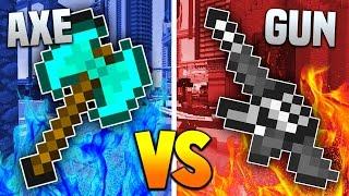 Download AXES vs GUNS! | Minecraft MOD BATTLE! (Balkon's Weapon Mod) Video
