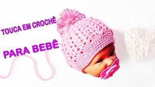 Download Touca Baby em Crochê 1 a 6 meses (Com Pompom) - By Lourdes Duarte Crochê Video