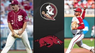 Download Florida State vs #5 Arkansas College World Series Opening Round   College Baseball Highlights Video