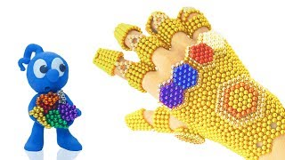 Download TINY MAKES GAUNTLET FROM MAGNETIC BALLS 💖 CLAY MIXER Play Doh Stop Motion Video