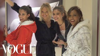 Download Victoria's Secret Angels Sleepover: Taylor Hill, Jasmine Tookes, and More Prep for the 2016 Show Video