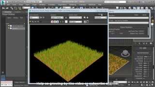 Download 3Ds Max Fast Grass Tutorial with Hair and Fur Modifier Video