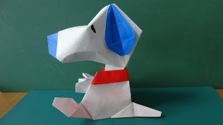 Download 折り紙「スヌーピー」顔 Origami″Snoopy″Face Video
