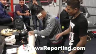 Download Abner Mares EPIC gets his cake from the team- EsNews Boxing Video