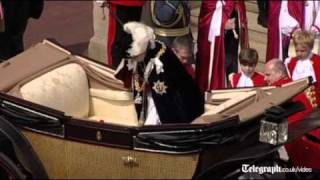 Download Duke and Duchess of Cambridge, Kate Middleton, on parade at Garter Day proces Video