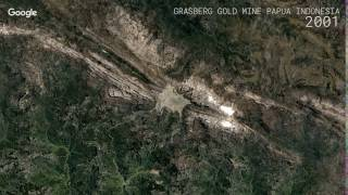 Download Google Timelapse: Grasberg Gold Mine, Papua, Indonesia Video