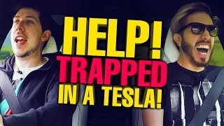 Download HELP! WE'RE TRAPPED IN A TESLA! Video