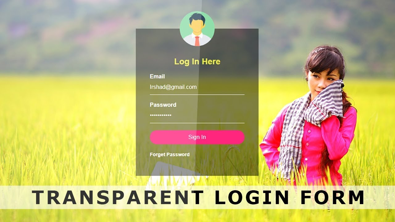 Stream transparent login form with html css login form design transparent login form with html css login form design with source code html falaconquin