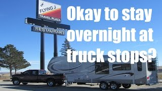 Download Okay to stay overnight in an RV at truck stops? Video