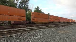 Download 2 CSX Trains Meet and Pass LORAM Rail Grinder Video