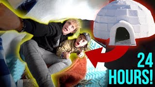 Download 24-HOUR OVERNIGHT CHALLENGE INSIDE AN IGLOO! **disaster** Video