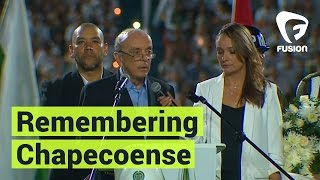 Download Thousands Gather to Remember Brazilian Soccer Team Chapecoense Video
