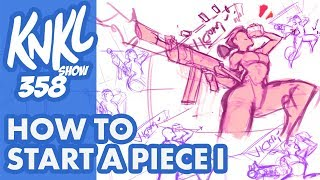Download KNKL 358: How to START a piece part 1 (Let's draw FORTNITE, 40 mins of LIVE drawing!) Video