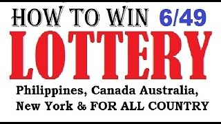 Download How to win the lottery 6/49 Lotto Jackpot - Guaranteed 100% Video