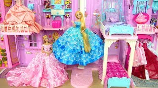 Download Princess Barbie Rapunzel Pink Purple Castle All Day Routine! Morning to Night Putri Barbie Castelo Video