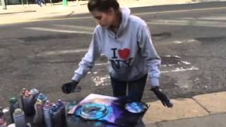 Download Spray Painting Amazing talent New York City Time Square AMA Video