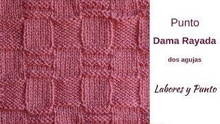 Download Como tejer el punto dama rayada a dos agujas- Labores y Punto Video